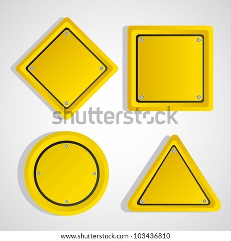 yellow sign over gray background. vector illustration #103436810