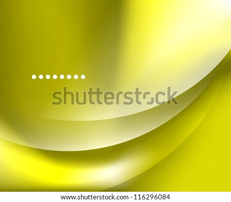 Yellow smooth wave template