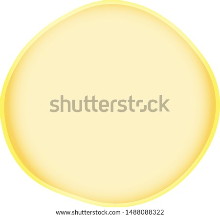 Yellow Soap bubble. Cartoon Soap bubble. Transparent Soap bubble. Vector Soap bubble.