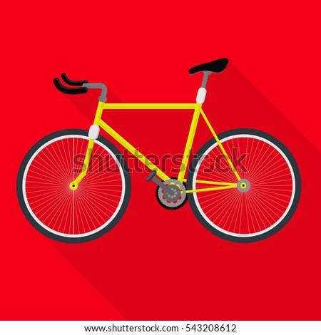 yellow sport bike shadow of