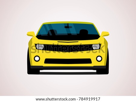 Stock Photo yellow sport car