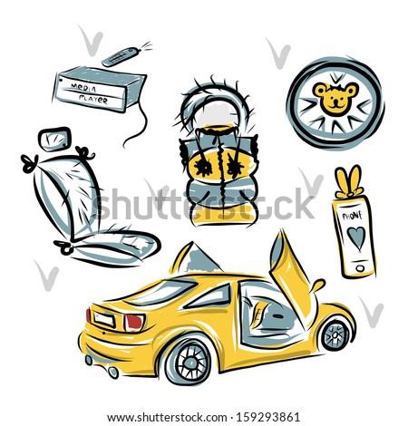 yellow sport car with lamba