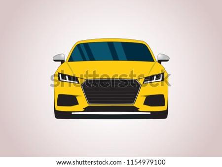 yellow sports car audi tts