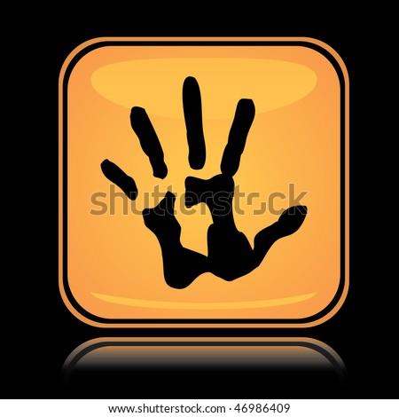 Icon Yellow Yellow Square Icon Hand Print