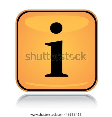 Icon Yellow Yellow Square Icon Info Point