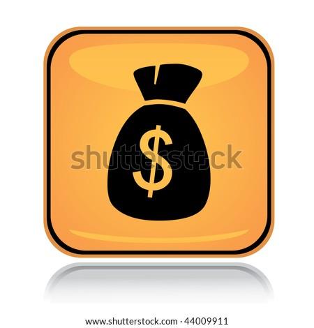 Icon Yellow Yellow Square Icon Money Sack