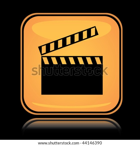 Icon Yellow Yellow Square Icon Movie Board