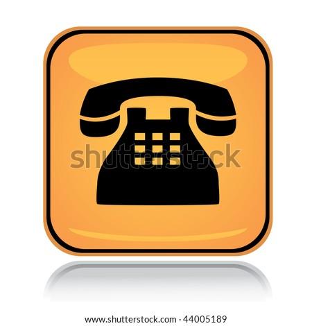 Icon Yellow Yellow Square Icon Old Phone