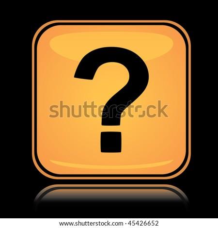 Icon Yellow Yellow Square Icon Question