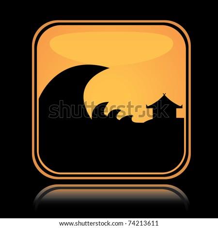 Icon Yellow Yellow Square Icon Tsunami