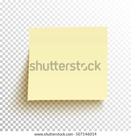 yellow sticky note isolated on
