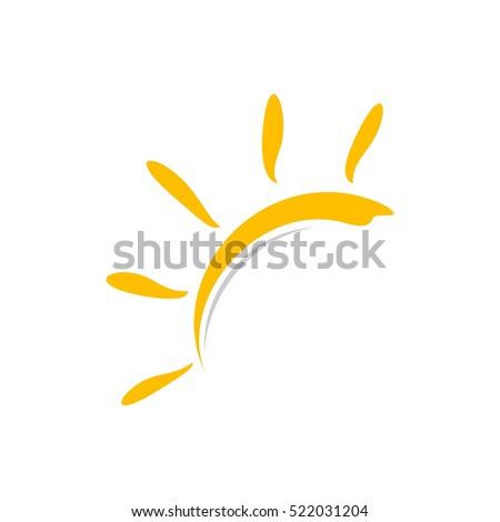 Yellow Sun Logo Template