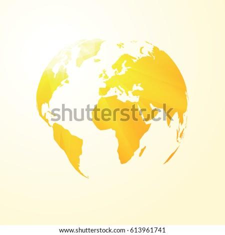 yellow sunny world map