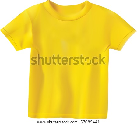yellow T-shirt design template