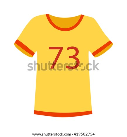 yellow t shirt on white
