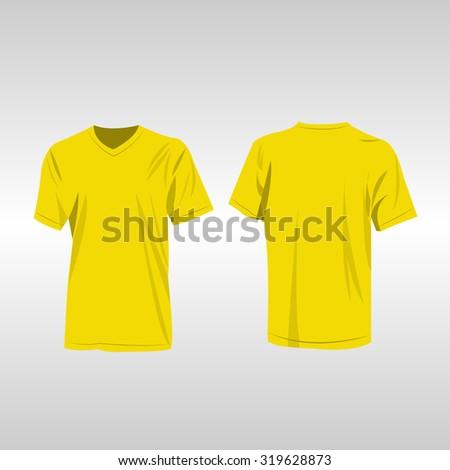 Yellow t-shirt vector - Shutterstock ID 319628873