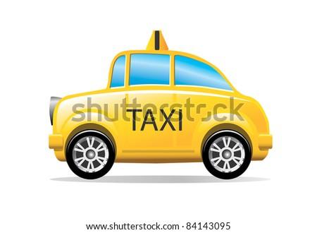 αποθέματος φορέα: κίτρινο ταξί