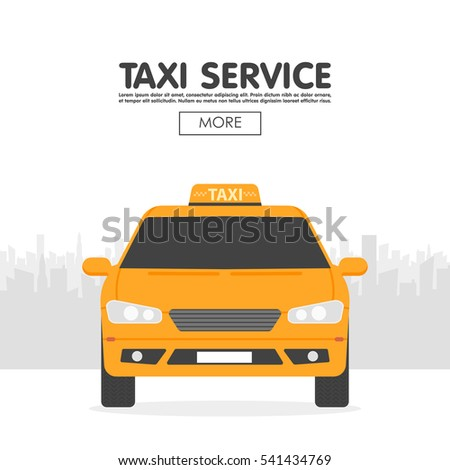 yellow taxi car in front of