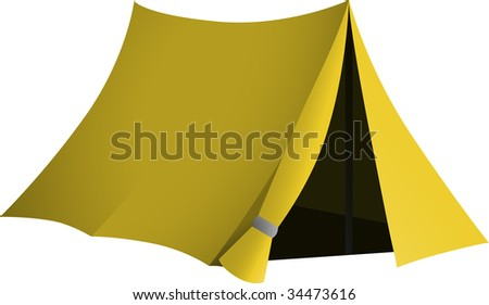 Yellow tent with open entrance