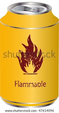 Yellow tin with fuel