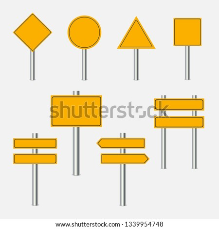 Yellow traffic signs design  #1339954748