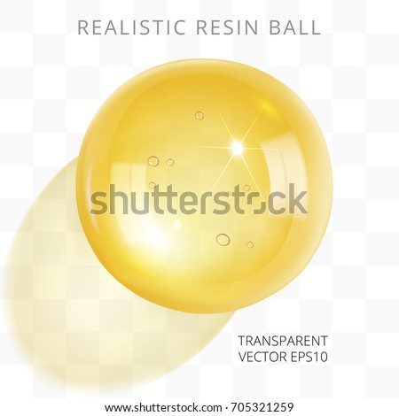 yellow transparent resin ball