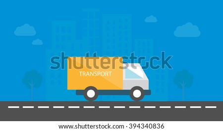 yellow truck on black road with