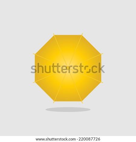 Icon Yellow Yellow Umbrella Icon Vector