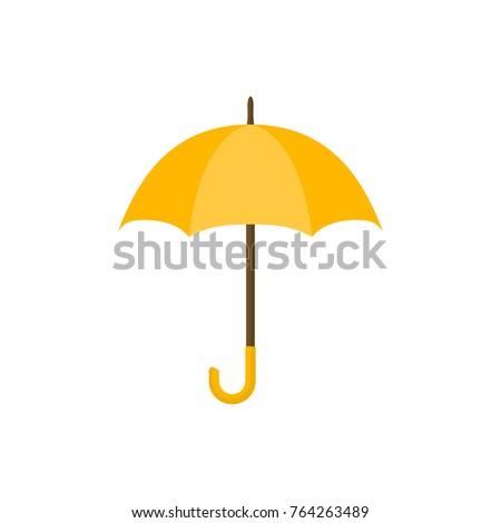 yellow umbrella icon yellow
