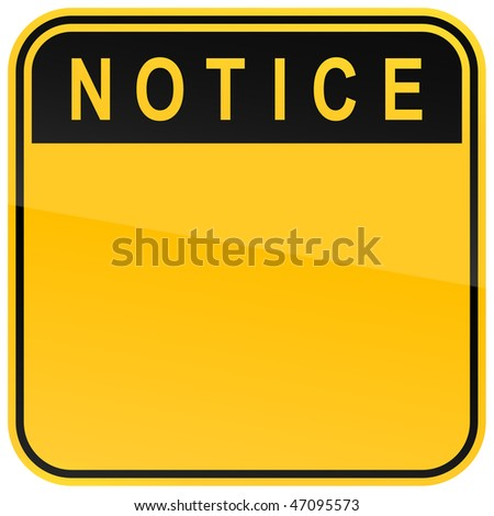 yellow warning blank notice