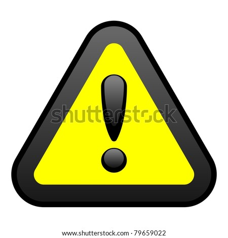 Yellow Warning Sign, Vector