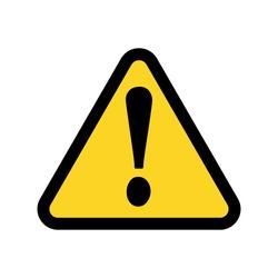 Yellow warning sign.Vector illustration. Flat design for business financial marketing banking advertising web concept cartoon illustration.
