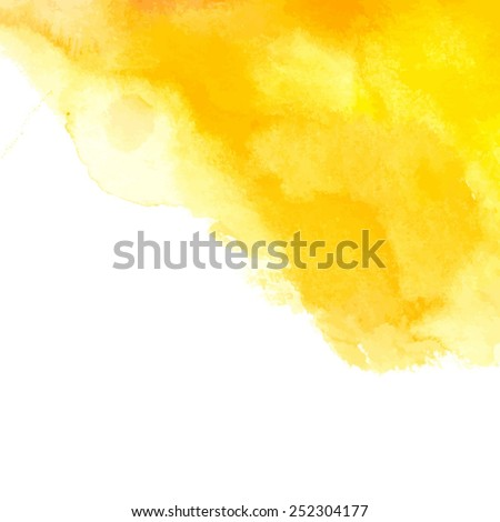 yellow watercolor abstract spot