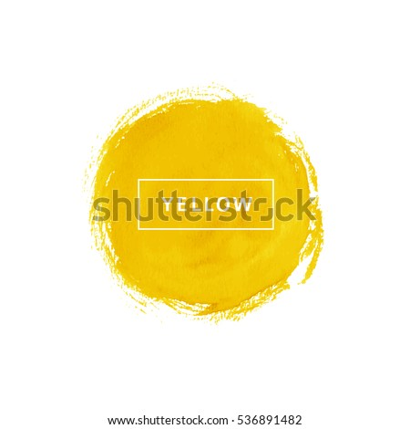 yellow watercolor circle