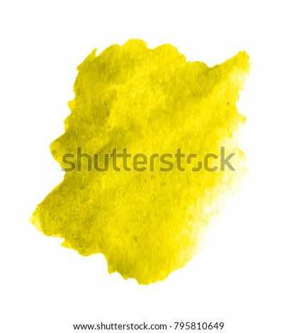 Yellow watercolor VECTOR stain - Shutterstock ID 795810649
