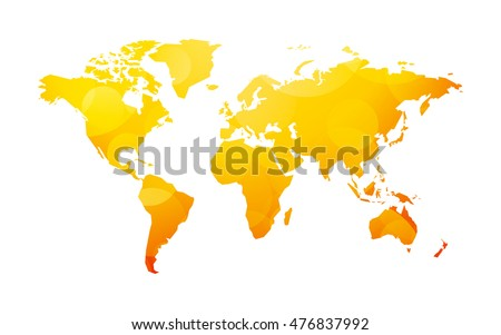 yellow world map
