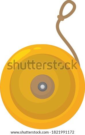 yellow yo yo  illustration