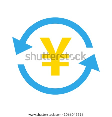 Yen icon, vector Yen sign symbol - money currency illustration