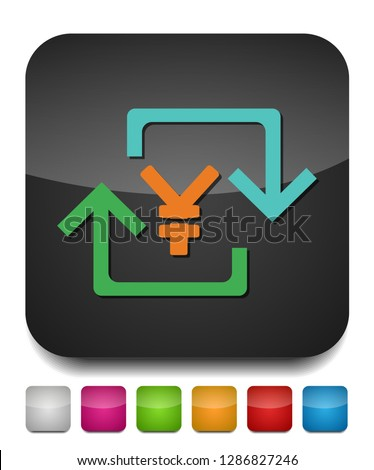 Yen sign icon, currency sign - money symbol, vector cash illustration