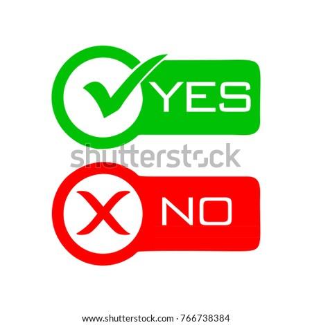 Yes and NO check mark