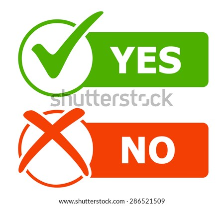 Yes and No icons / web buttons. Vector illustration