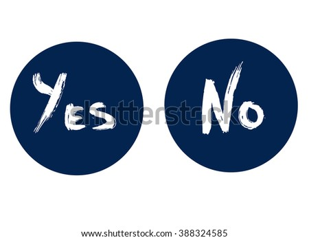 yes and no inscription yes and