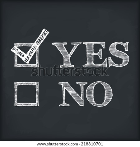 yes and no with checkboxes on