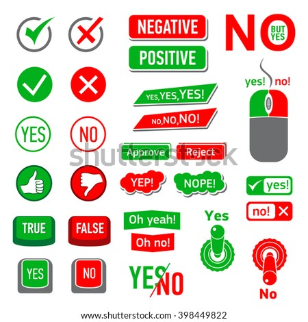 yes no icons set yes no icons