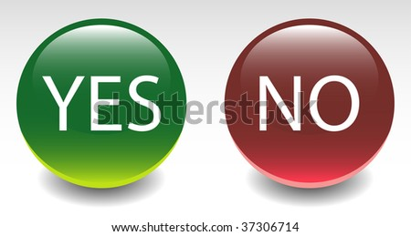 Yes & No Sign Icon Buttons