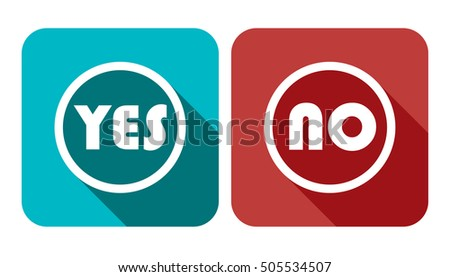 Yes No Vote Vector Banner - Voting Button Icon Set Illustration Stock