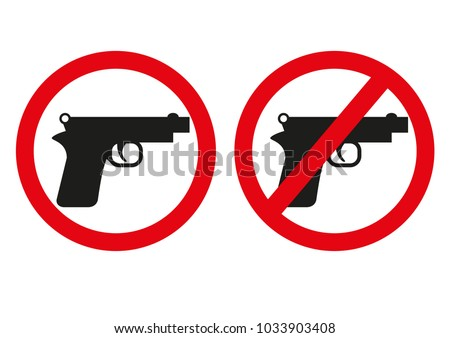 yes or no to gun control sign