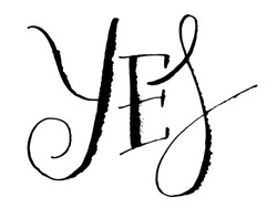 YES vector ruling pen calligraphy