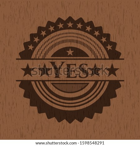 Yes wood signboards. Vector Illustration.