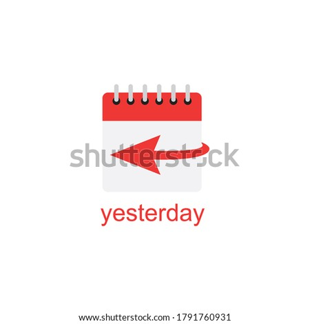 yesterday icon,usable for web vector symbol ストックフォト ©